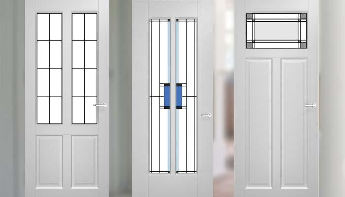 Binnendeur - Levendig glas