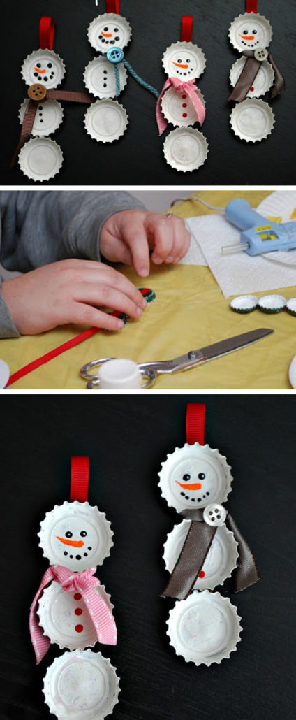 sneeuwman-bierdopjes