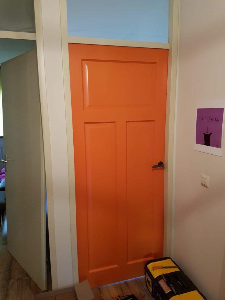 Binnendeur oranje