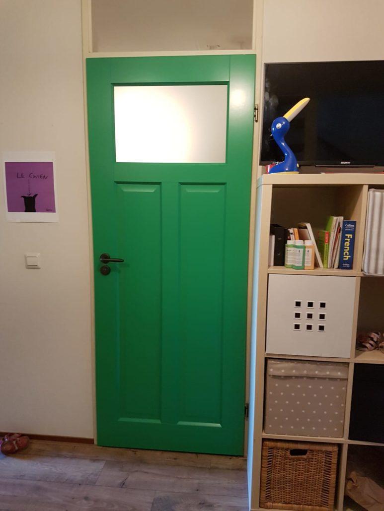 Binnendeur groen